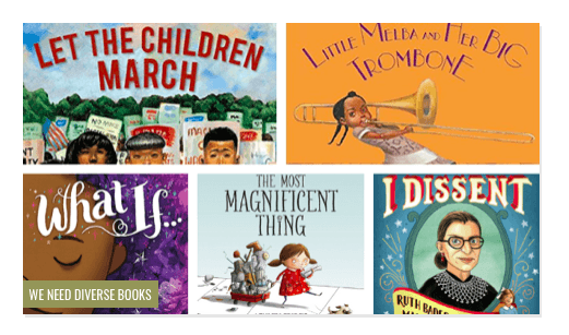 The diverse KidLit TV team supports the We Need Diverse Books and Multicultural Children's Book Day initiatives by encouraging the children's literature community to create more books that reflect the diversity of our society.