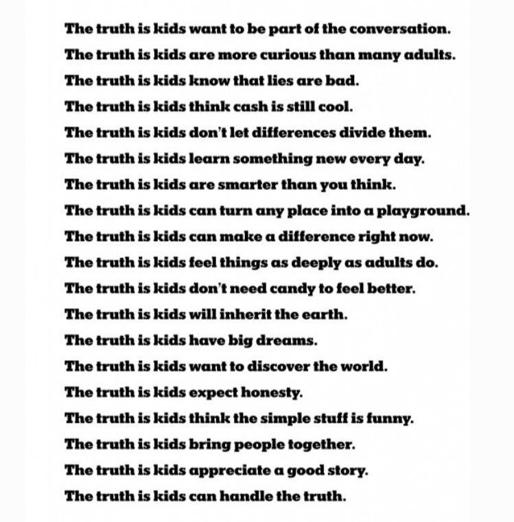 The Truth About Children. New York Times: This list of children's books discuss white privilege and how to break down the systems of white supremacy one courageous conversation at a time.